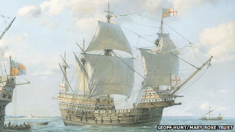 Geoff Hunt's picture of the Mary Rose