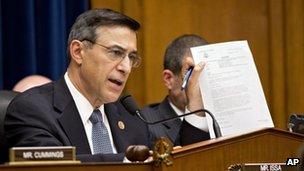 Representative Darrell Issa speaks at a May hearing into the Benghazi, Libya attack