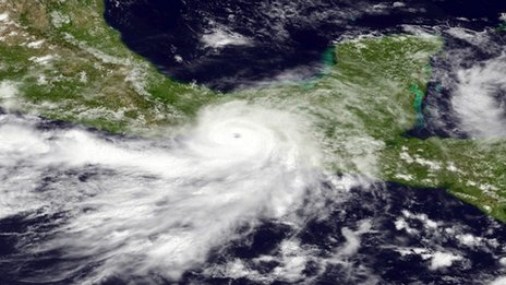 Hurricane Barbara approaches Mexico