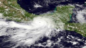 Hurricane Barbara approaches Mexico