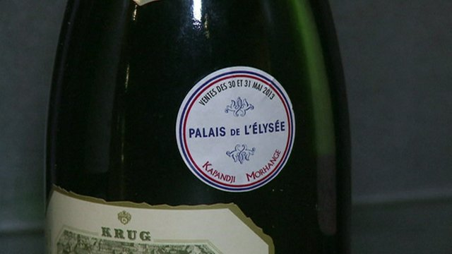 Bottle of wine with Elyseé stamp