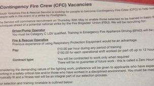 Fire service recruitment advert