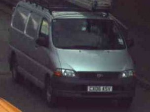 Silver Toyota Hiace van found by police