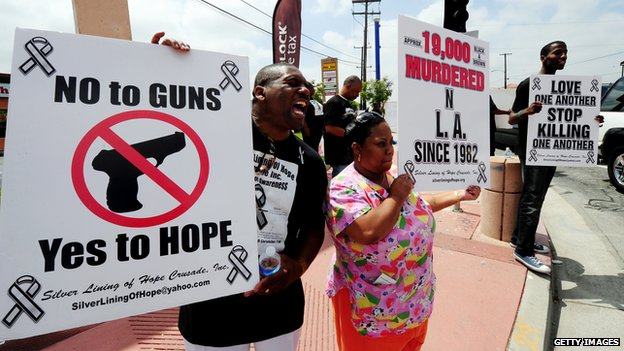 Protests against gang and gun crime in 2011