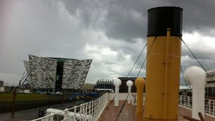 Nomadic and Titanic Belfast