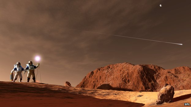 manned mission to mars 3d art - photo #9