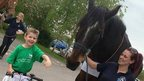 Alfie and his horse best friend Tom