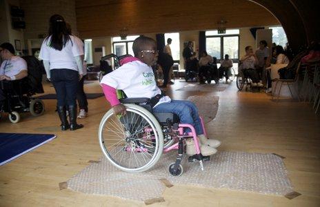 Wheelchair skills class