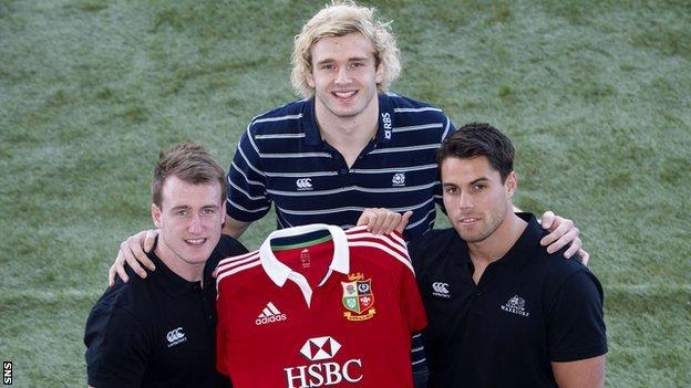Stuart Hogg, Richie Gray and Sean Maitland