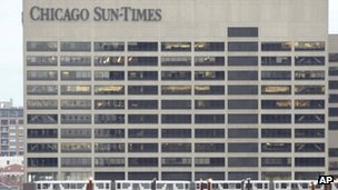 Chicago Sun Times building file picture