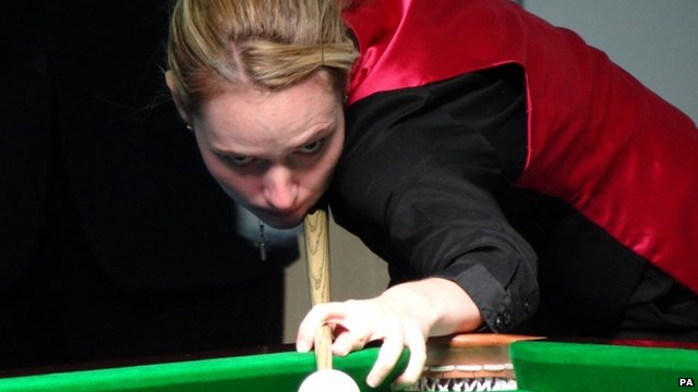 Snooker player Reanne Evans