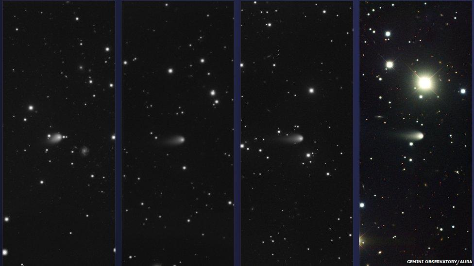 Comet ISON images