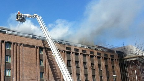 Fire at National Library of Wales in Aberystwyth