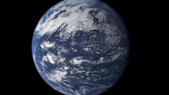 A picture of the Earth seen from space. Image courtesy of NASA