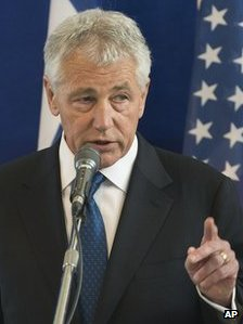 The US Defence Secretary, Chuck Hagel