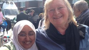 Fazilah Brooke and Caz Shane at Woolwich Mosque