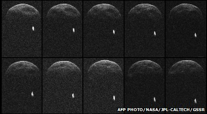 Nasa images of the asteroid