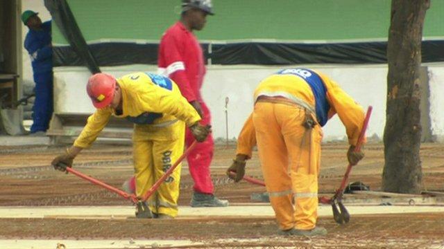 Stadium workers
