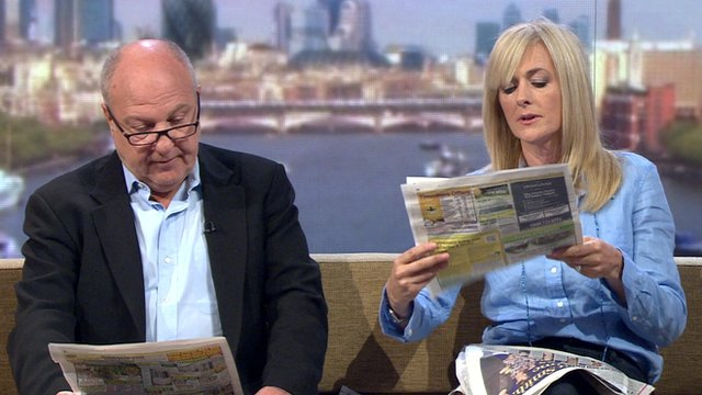 Eddie Mair reviews the Sunday newspapers with Jane Moore, Sun columnist and music promoter Harvey Goldsmith.