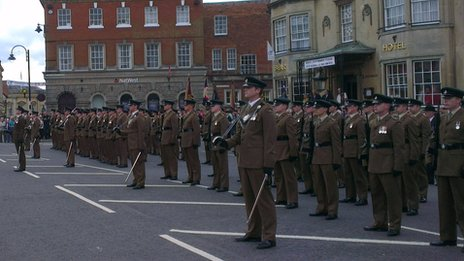 1st Battalion the Rifles in Devizes, June 2013