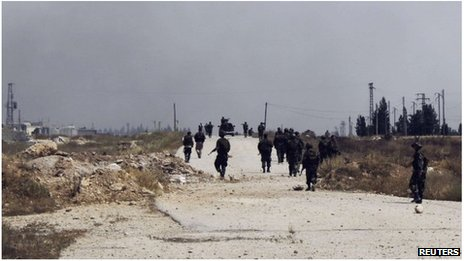 Pro-Assad forces near Qusair, Syria (1 June 2013)