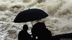 People watch the rising Lech river on June 2, 2013 in Landsberg am Lech, Germany