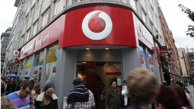 Vodafone shop front