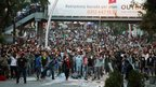 Turks gather in Ankara for anti-government protests.