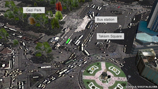 Map of Taksim Square, Istanbul