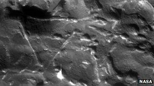 Widmanstatten patterns in a meteor