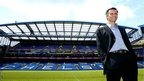 Jose Mourinho poses at Stamford Bridge