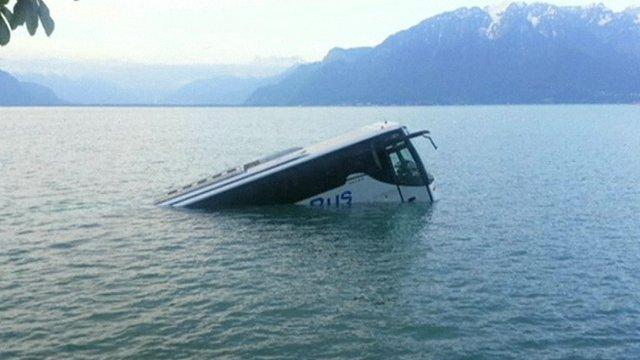 A bus in Lake Geneva