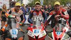 Bruce Anstey, Michael Dunlop and William Dunlop