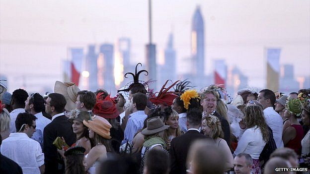 Crowd in Dubai