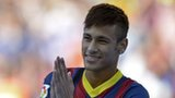 Brazil striker Neymar at his Barcelona unveiling