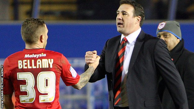 Craig Bellamy and Malky Mackay