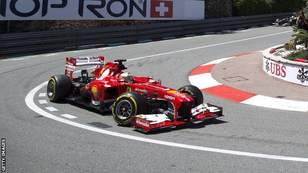 Fernando Alonso in the Ferrari