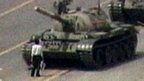 Man stands in front of tank in iconic image from Tiananmen Square in 1989
