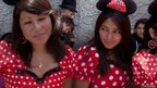 Girls dress up as Disney's Minnie Mouse character for the annual carnival in Guanujo, near Guaranda, central Ecuador.