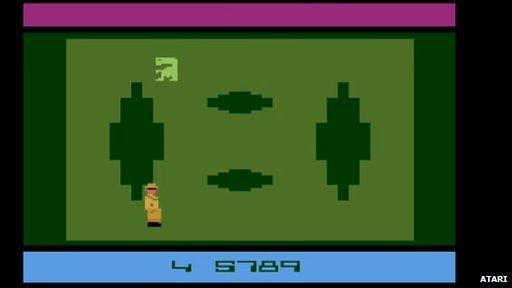 Atari 2600 ET game