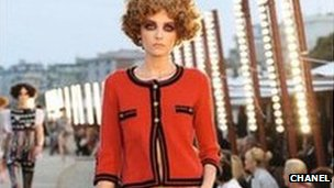 Model showing Chanel fashion
