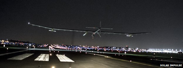 Solar Impulse plane arrives in St Louis