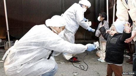Fukushima testing for radiation