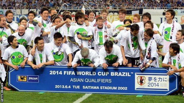 Japan celebrate