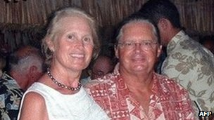 Jean and Scott Adam, in a photo provided by a family friend