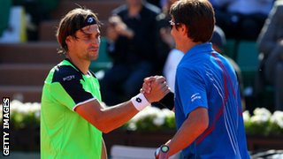 David Ferrer and Tommy Robredo