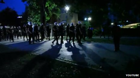 Footage purportedly showing police raid on Gezi Park