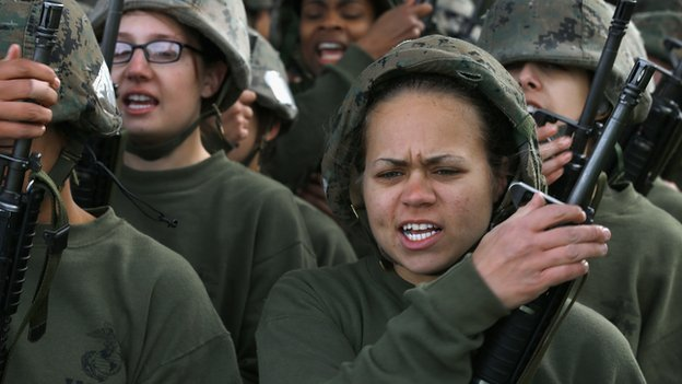 Women Marines train at Parris Island