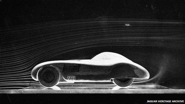 Jaguar in smoke tunnel