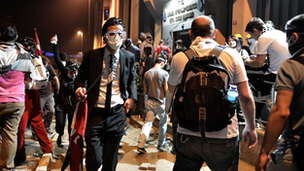 Protests in Taksim Square, Istanbul,